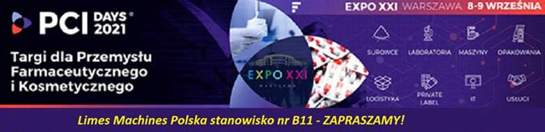 PCI Days 2021 - Limes Machines Polska - stoisko B11